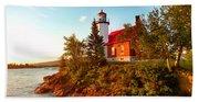 Eagle Harbor Lighthouse, Michigan Bath Towel