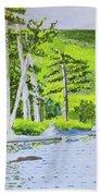 Eagle Lake, Acadia, Maine Bath Towel