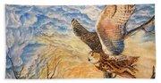 Eagle Owl Hand Towel