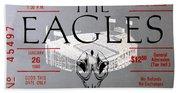Eagles Concert Ticket 1980 Bath Towel