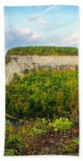 Early Autumn At Genesee River Canyon New York Bath Towel