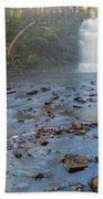 Early Autumn At Pixley Falls Bath Towel
