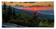 Blue Ridge Parkway Sunrise - Beacon Heights - North Carolina Bath Towel