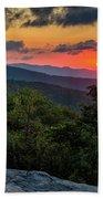 Blue Ridge Parkway Sunrise - Beacon Heights - North Carolina Hand Towel