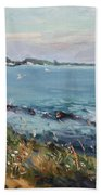 Early Evening At Gratwick Waterfront Park Hand Towel