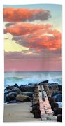 Early Evening At The Beach Bath Towel
