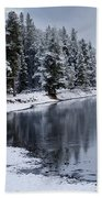 Early Fall Storm In Yellowstone Hand Towel