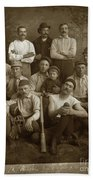 Early Monterey Baseball Team Circa 1895 Bath Towel
