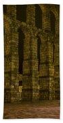 Early Morning At The Aqueduct Of Segovia Bath Towel