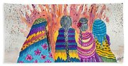 Earth Mothers - Feeding  The Fire Hand Towel