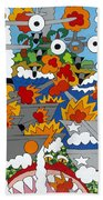 East Meets West Hand Towel by Rojax Art