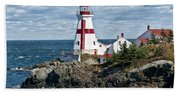 East Quoddy Lighthouse Bath Towel
