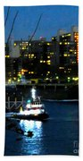 East River Traffic 2 New York Bath Towel