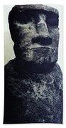 Easter Island Stone Statue Bath Towel