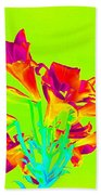 Vibrant Lilies Bath Towel by Karen J Shine
