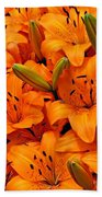 Easter Lilies Bath Towel