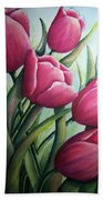 Easter Tulips Bath Towel