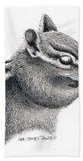 Eastern Chipmunk Hand Towel