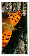 Eastern Comma Butterfly Bath Towel