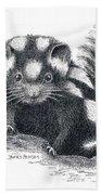 Eastern Spotted Skunk Bath Towel