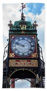 Eastgate Clock In Chester Bath Towel