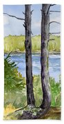 Eastport Maine Coastal Afternoon Bath Towel