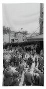 Ebbets Field Crowd 1920 Hand Towel