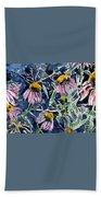 Echinacea Cone Flower Art Hand Towel