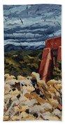 Echoes Of Tularosa, Museum Hill, Santa Fe, Nm Bath Sheet by Erin Fickert-Rowland