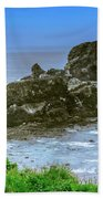 Ecola State Park Oregon 2 Bath Sheet by Shiela Kowing