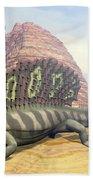 Edaphosaurus Dinosaur - 3d Render Bath Towel