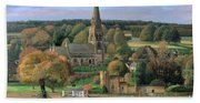 Edensor - Chatsworth Park - Derbyshire Bath Towel