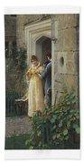 Edmund Blair Leighton 1852-1922 The Request Bath Towel