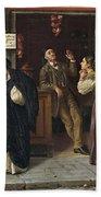 Eduardo Matania, Beim Pfandleiher 1870s Bath Towel