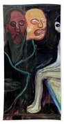 Edvard Munch - Girl And Three Mens Heads 1895-98 Bath Towel