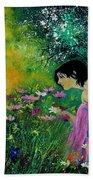 Eglantine With Flowers Bath Towel