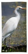 Egret Or Crane Bath Towel