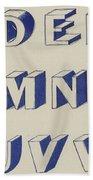 Egyptian For Carving Vintage Blue Font Design Bath Towel