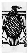 Egyptian Symbol: Vulture Bath Towel