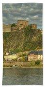 Ehrenbreitstein Fortress On The Rhine Bath Towel