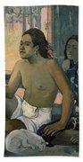 Eiaha Ohipa Or Tahitians In A Room Bath Towel by Paul Gauguin