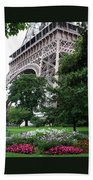 Eiffel Tower Garden Bath Towel