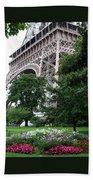 Eiffel Tower Garden Bath Towel