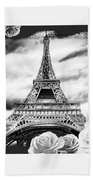 Eiffel Tower In Black And White Design IIi Bath Towel
