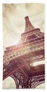 Eiffel Tower In Sunlight Hand Towel