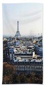 Eiffel Tower Paris France Bath Towel
