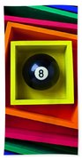 Eight Ball In Box Hand Towel by Garry Gay