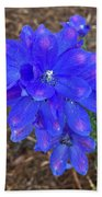 Electric Blue Flower Bath Towel