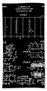 Electric Football Patent 1955 Black Bath Towel