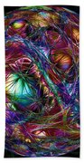 Electric Neon Abstract Bath Towel
